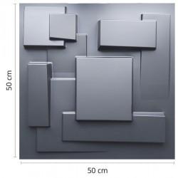 Placas 3D AutoAdesiva 50 x 50 Preta Cidades